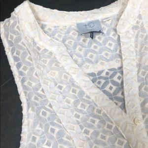 Anthropologie v neck sleeveless blouse